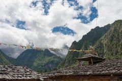 YUBENG, CHINE - 8 août 2014 : Village de Yubeng un point de repère célèbre dedans Images stock