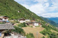 YUBENG, CHINE - 8 août 2014 : Village de Yubeng un point de repère célèbre dedans Photo stock