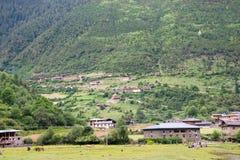YUBENG, CHINE - 9 août 2014 : Village de Yubeng un point de repère célèbre dedans Image stock