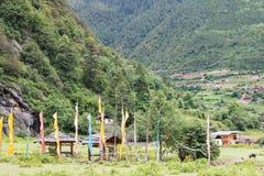 YUBENG, CINA - 10 agosto 2014: Villaggio di Yubeng un punto di riferimento famoso i Fotografia Stock