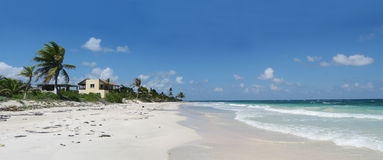 On the yucatan coast facing the caribbean sea Royalty Free Stock Photography