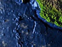 Yucatan on Earth - visible ocean floor Stock Photography