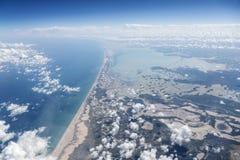 Yucatan Mexico Coast Aerial Stock Photography