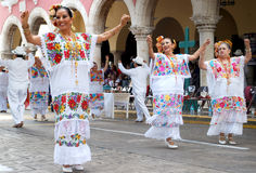 Yucatan Mexico Dancers Royalty Free Stock Image