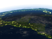 Yucatan at night on planet Earth Royalty Free Stock Photography