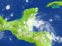Yucatan on planet Earth Royalty Free Stock Images