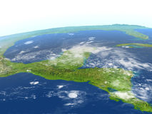 Yucatan on planet Earth Stock Image