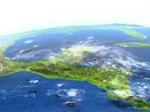 Yucatan on planet Earth Royalty Free Stock Image