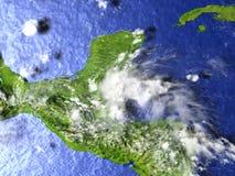 Yucatan on realistic model of Earth Royalty Free Stock Photo
