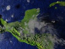 Yucatan on realistic model of Earth Stock Image