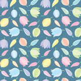 Yucca flowers pattern background. Yucca flowers vector pattern background stock illustration