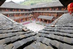Yuchang-Hotel von Nanjing-Grafschaft, luftgetrockneter Ziegelstein rgb Lizenzfreie Stockfotos