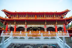 YUCHI, ΤΑΪΒΆΝ - 15 Νοεμβρίου 2017: Ναός Wenwu στη λίμνη φεγγαριών ήλιων εθνική Στοκ εικόνα με δικαίωμα ελεύθερης χρήσης