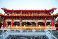 YUCHI, TAIWÁN - 15 de noviembre de 2017: Templo de Wenwu en el lago moon de Sun nacional imagen de archivo libre de regalías