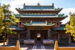 Yuci old town scene-Building of City God Temple Stock Photos