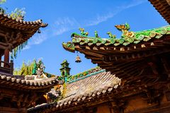 Yuci old town scene-Building of City God Temple Royalty Free Stock Photography