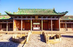 Yuci old town scene. Confucian temple(shrine) building. Stock Photos