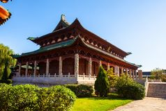 Yuci old town scene. Confucian temple(shrine) building. Royalty Free Stock Image