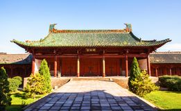 Yuci old town scene-Confucian temple(shrine) building. Taken in the historical Chinese town-Yuci old town. The Yuci is a city in Shanxi, China. It is near the stock photos