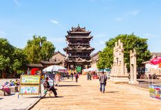 Yuci old town scene-Yuci old town streets Stock Photography