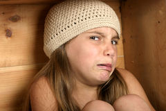 Yuck!. Girl looking disgusted Stock Photography