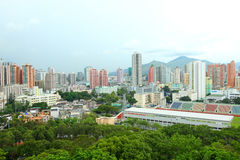 Yuen Long district in Hong Kong at day time Stock Image