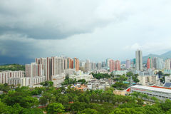 Yuen Long district in Hong Kong at day time Royalty Free Stock Photo