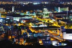 Yuen Long district at night Stock Image