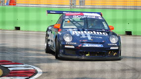 Yuey Tan racing at Porsche Carrera Cup Asia Royalty Free Stock Images