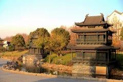 Yueyang torn och port Arkivbilder