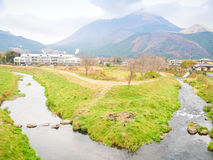 Yufuin Kyushu. Natural view of Mountain Yufu in Yufuin, Kyushu region Japan stock image
