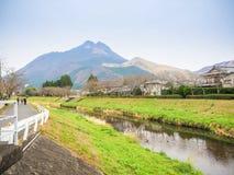 Yufuin Kyushu. Natural view of Mountain Yufu in Yufuin, Kyushu region Japan royalty free stock photo