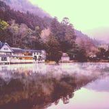 ํYufuin lake. Yufuin lake in Japan in the evening Stock Photo
