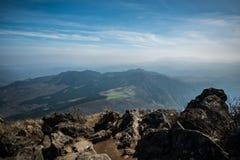 Yufujima峰顶 图库摄影