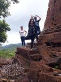 Yuga au vieux temple Images stock