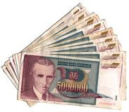 Yugoslav dinars Stock Photography