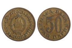 Yugoslavia coins Royalty Free Stock Photos