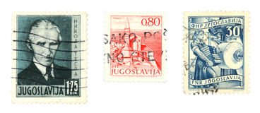 Yugoslavia stamps Royalty Free Stock Photo