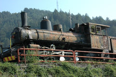 Yugoslavian 2nd world war steam train Royalty Free Stock Photo