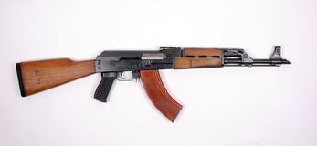 Yugoslavian assault rifle. Yugoslavian Serbian M70 assault rifle. Based on AK-47. REAL FIREARM NOT AIRSOFT TOY royalty free stock photos