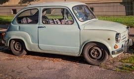 Yugoslavian car. Small Vintage Yugoslavian Zastava automobile, pastel color, Vienna Austria, July 2017 Stock Image