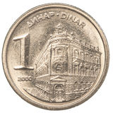 1 yugoslavian dinar coin. Isolated on white background Royalty Free Stock Images