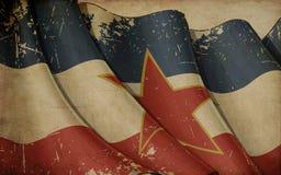 Yugoslavian Flag Old Paper Background Stock Images