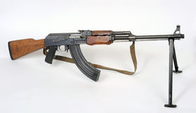 Yugoslavian M72B1 squad machine gun. Royalty Free Stock Image