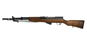 Yugoslavian military rifle. Vintage military semi-auto rifle with clipping path at original size Royalty Free Stock Images