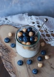 Yugurt with Blueberry Royalty Free Stock Images