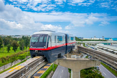 Yui Rail Naha City Monorail. A monorail line in Naha, Okinawa, Japan Royalty Free Stock Photos