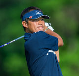 Yui Ueda hits a drive at at the 2013 US Open Stock Photos