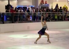 YuKa SaTo na Galleria łyżwiarstwa figurowe wakacyjnym występie Fotografia Royalty Free