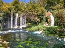 Yukari Düden Şelalesi (Düden Waterfalls) - Antalya - Turkey Stock Photography